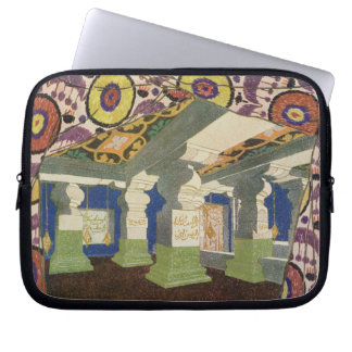 Oriental Scenery Design (colour litho) 2 Computer Sleeve