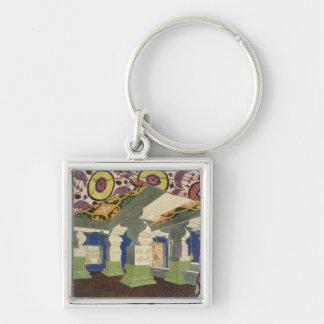 Oriental Scenery Design (colour litho) 2 Keychain