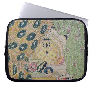 Oriental Scenery Design (colour litho) Laptop Sleeve