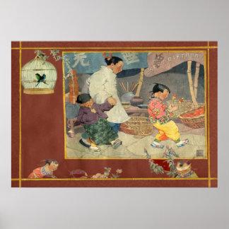 Oriental Scrapbook Poster