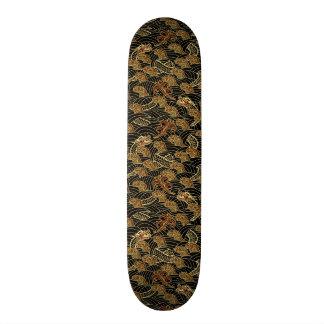 Oriental Sea Dragon Pattern Skateboard Deck