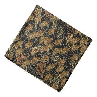 Oriental Sea Dragon Pattern Kerchiefs