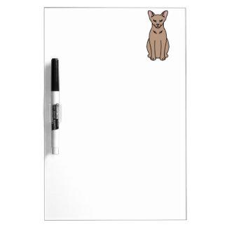 Oriental Self Cat Cartoon Dry-Erase Board