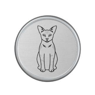 Oriental Shaded Cat Cartoon Speaker