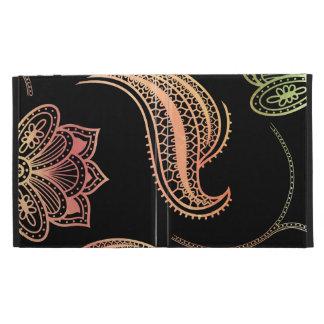 Oriental Shapes On Black iPad Folio Covers