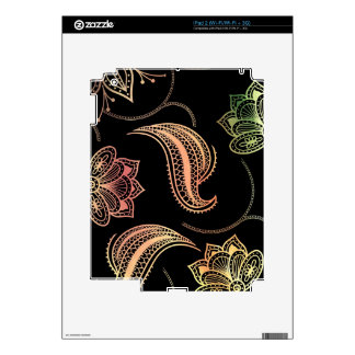 Oriental Shapes On Black Decal For iPad 2