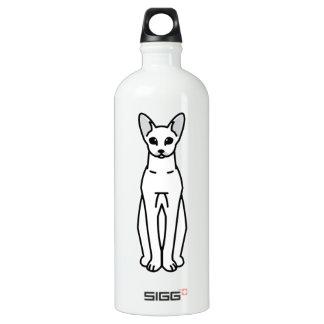 Oriental Shorthair Cat Cartoon Aluminum Water Bottle