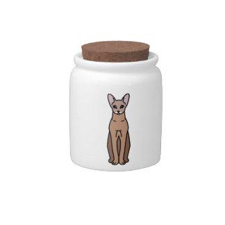 Oriental Shorthair Cat Cartoon Candy Jar