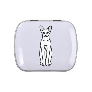 Oriental Shorthair Cat Cartoon Candy Tins