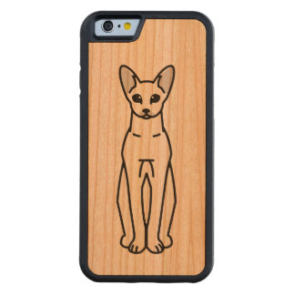 Oriental Shorthair Cat Cartoon Carved® Cherry iPhone 6 Bumper