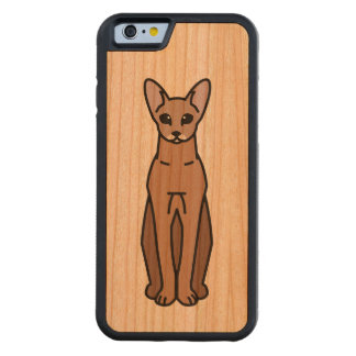Oriental Shorthair Cat Cartoon Carved® Cherry iPhone 6 Bumper Case