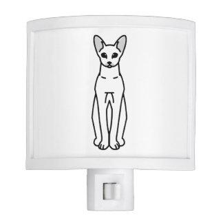 Oriental Shorthair Cat Cartoon Nite Lights