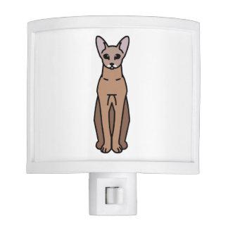 Oriental Shorthair Cat Cartoon Night Lights
