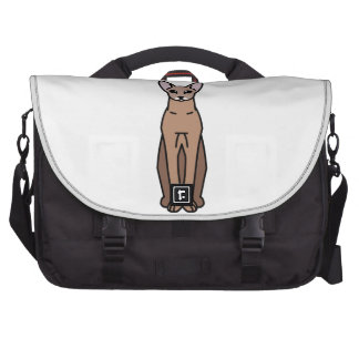 Oriental Shorthair Cat Cartoon Laptop Bags