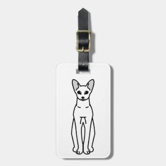 Oriental Shorthair Cat Cartoon Bag Tag