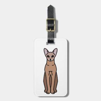 Oriental Shorthair Cat Cartoon Bag Tags