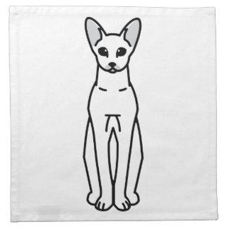 Oriental Shorthair Cat Cartoon Printed Napkin