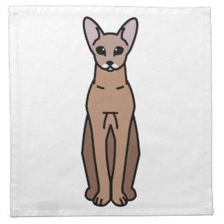 Oriental Shorthair Cat Cartoon Napkin