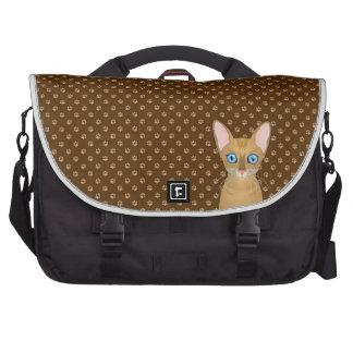 Oriental Shorthair Cat Cartoon Paws Computer Bag