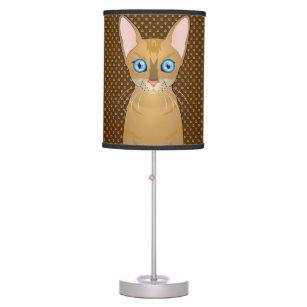 Oriental Shorthair Cat Cartoon Paws Table Lamp