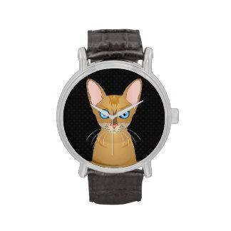 Oriental Shorthair Cat Cartoon Paws Watches
