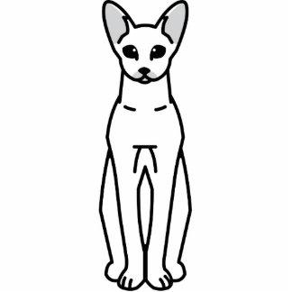 Oriental Shorthair Cat Cartoon Photo Cut Outs