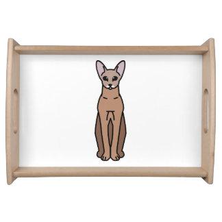 Oriental Shorthair Cat Cartoon Food Trays