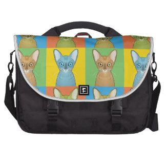 Oriental Shorthair Cat Cartoon Pop-Art Laptop Bag