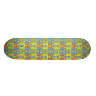 Oriental Shorthair Cat Cartoon Pop-Art Skateboard Deck