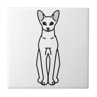 Oriental Shorthair Cat Cartoon Tile