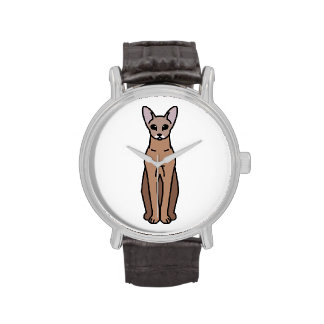 Oriental Shorthair Cat Cartoon Wristwatch