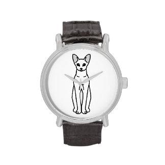 Oriental Shorthair Cat Cartoon Watch