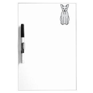 Oriental Smoke Cat Cartoon Dry-Erase Board