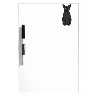 Oriental Smoke Cat Cartoon Dry Erase Board