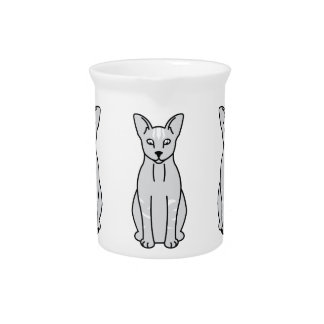 Oriental Smoke Cat Cartoon Pitcher