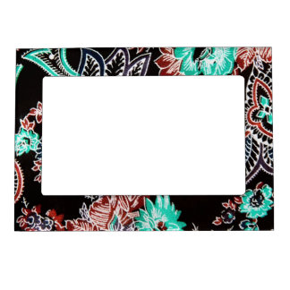 oriental spice - midnight - plant motif magnetic frame
