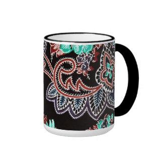 oriental spice - plant motif - midnight ringer mug