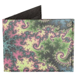 Oriental Star - colorful mesmerizing fractal art Tyvek Wallet