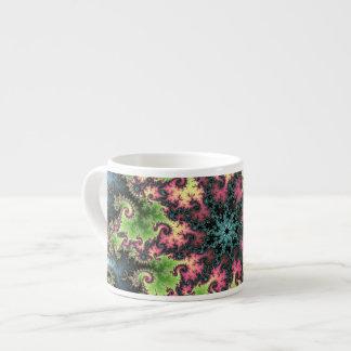 Oriental Star - colorful mesmerizing fractal art Espresso Cup