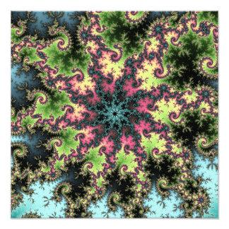 Oriental Star - colorful mesmerizing fractal art Photo Art