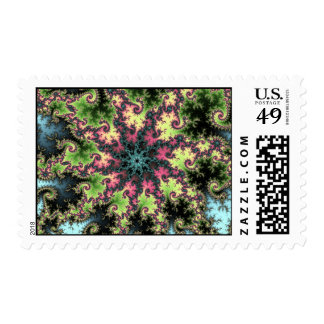 Oriental Star - colorful mesmerizing fractal art Postage Stamps