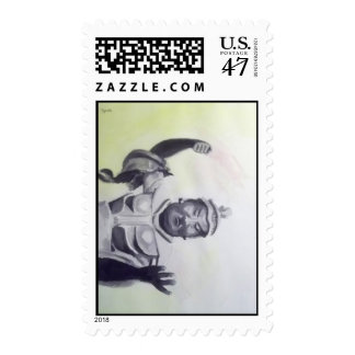 oriental statue at toledo museum of art -stamp postage