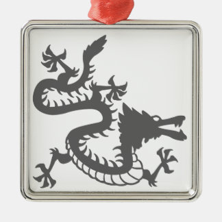 Oriental Style Dragon Metal Ornament