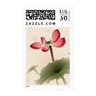 Oriental style Lotus Postage