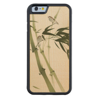 Oriental style painting, bamboo branches carved maple iPhone 6 bumper case