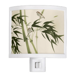 Oriental style painting, bamboo branches night light