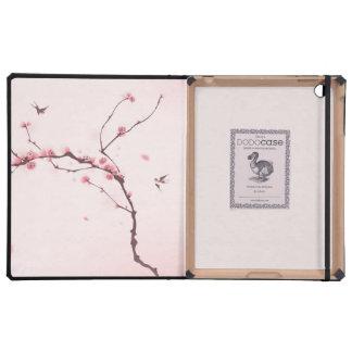 Oriental style painting cherry blossom iPad folio cases