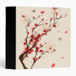 Oriental style painting, plum blossom in spring 2 binder