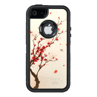 Oriental style painting, plum blossom in spring 2 OtterBox defender iPhone case