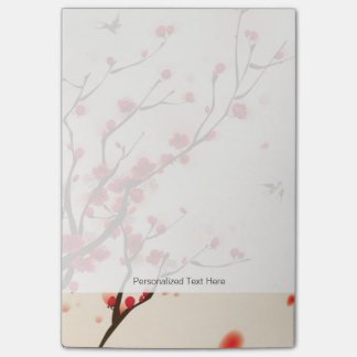 Oriental style painting, plum blossom in spring 2 post-it notes